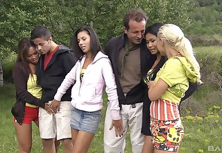 outdoor hardcore group fuck is all that horny Lady Mai wants to do