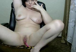 Cute milf fatiguing lovense vibrator for the first time on cam