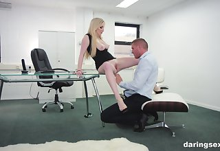 Georgie Lyall adores rough fuck up her colleague in her office