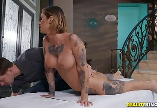Oiled and soft pussy be beneficial to Kleio Valentien is all that this guy needs