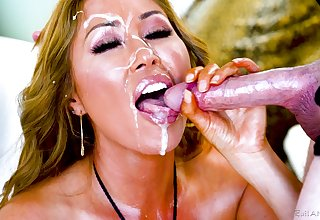 Kianna Dior adores when a foreign cum in her mouth after a blowjob