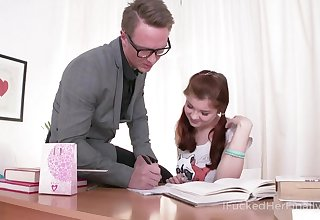 Comely Russian student Olga allows to invade her super parsimonious teen anus