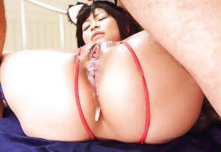 Aika Hoshino red lingerie model fucked until exhaustion - More at javhd.net